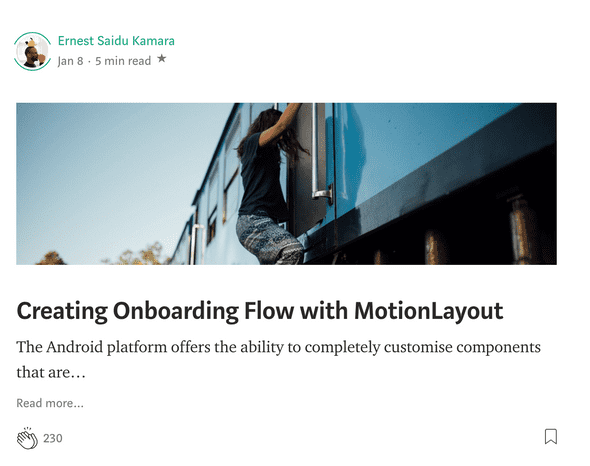 Creating Onboarding Flow with MotionLayout